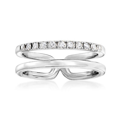 .25 ct. t.w. Diamond Open-Space Double-Band Ring in Sterling Silver