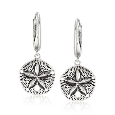 Sterling Silver Sand Dollar Drop Earrings