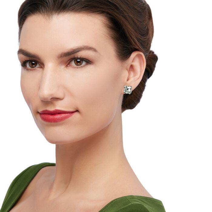 9.00 ct. t.w. Green Prasiolite Earrings in Sterling Silver
