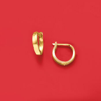 14kt Yellow Gold Huggie Hoop Earrings. 1/2""