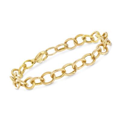 14kt Yellow Gold Cable-Link Bracelet, , default