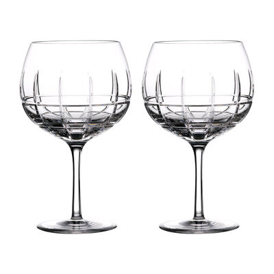 """Waterford Crystal """"Gin Journeys"""" Set of Two Cluin Balloon Glasses, , default"""