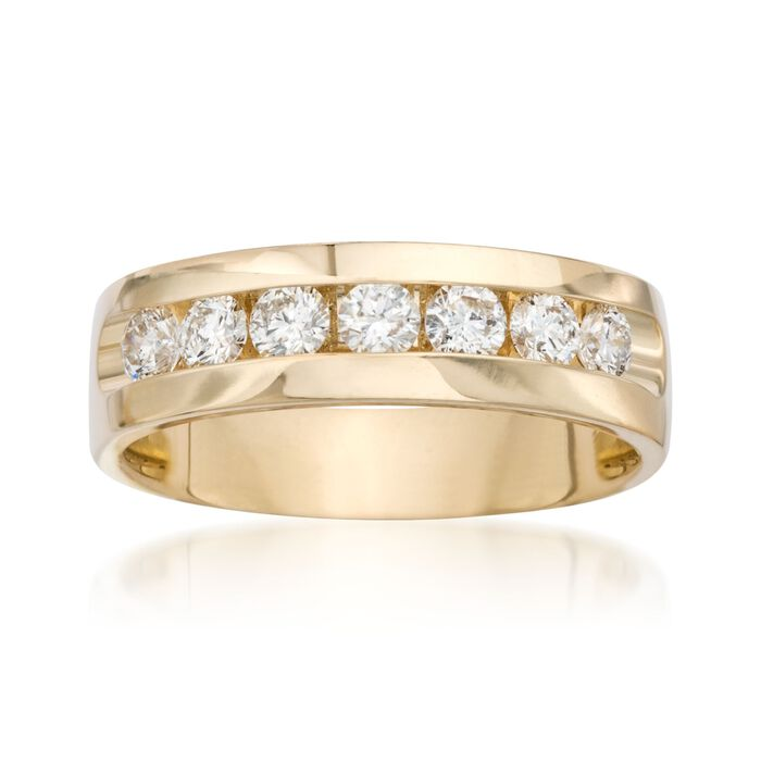 Men's 1.00 ct. t.w. Diamond Wedding Ring in 14kt Yellow Gold