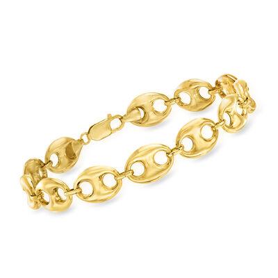 14kt Yellow Gold Marine-Link Bracelet