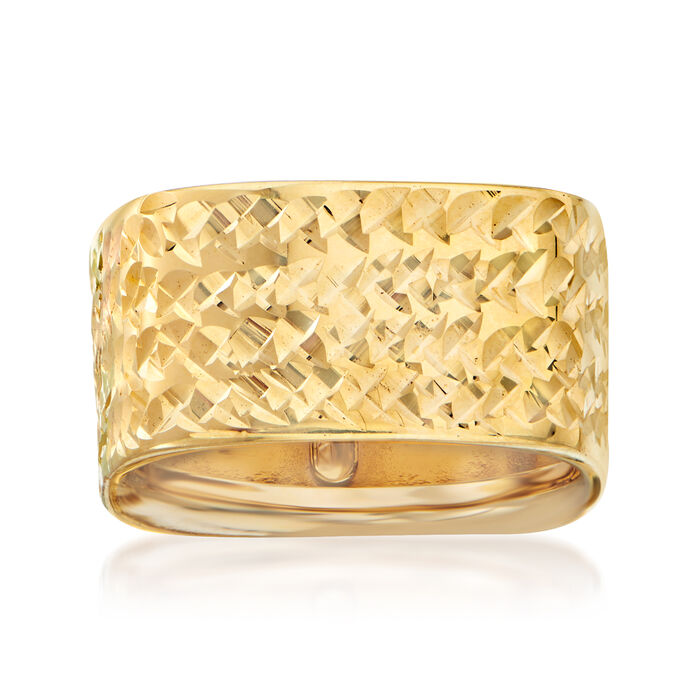 Italian Diamond-Cut Square Eternity Ring in 14kt Yellow Gold. Size 8, , default