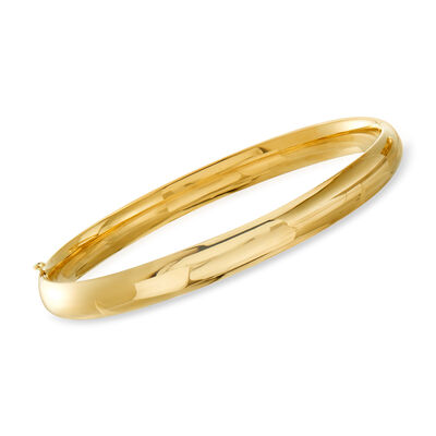 14kt Yellow Gold Polished Bangle Bracelet, , default