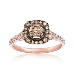 1.05 ct. t.w. Brown and White Diamond Ring in 14kt Rose Gold, , default
