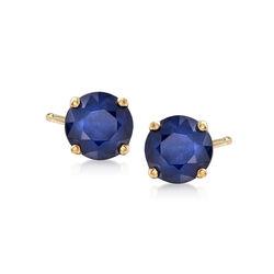 1.15 ct. t.w. Sapphire Stud Earrings in 14kt Yellow Gold, , default