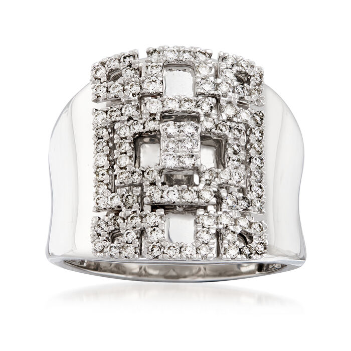 .74 ct. t.w. Diamond Geometric Ring in 14kt White Gold