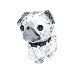 "Swarovski Crystal ""Lovlots - Roxy the Pug"" Clear and Black Crystal Figurine, , default"