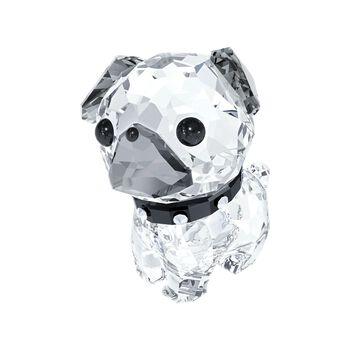 """Swarovski Crystal """"Lovlots - Roxy the Pug"""" Clear and Black Crystal Figurine, , default"""