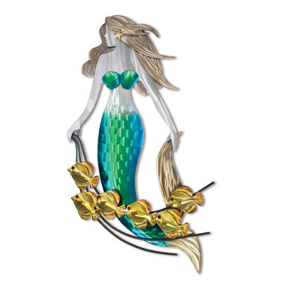 T.I. Design Stainless Steel Mermaid with Friends Wall Art, , default