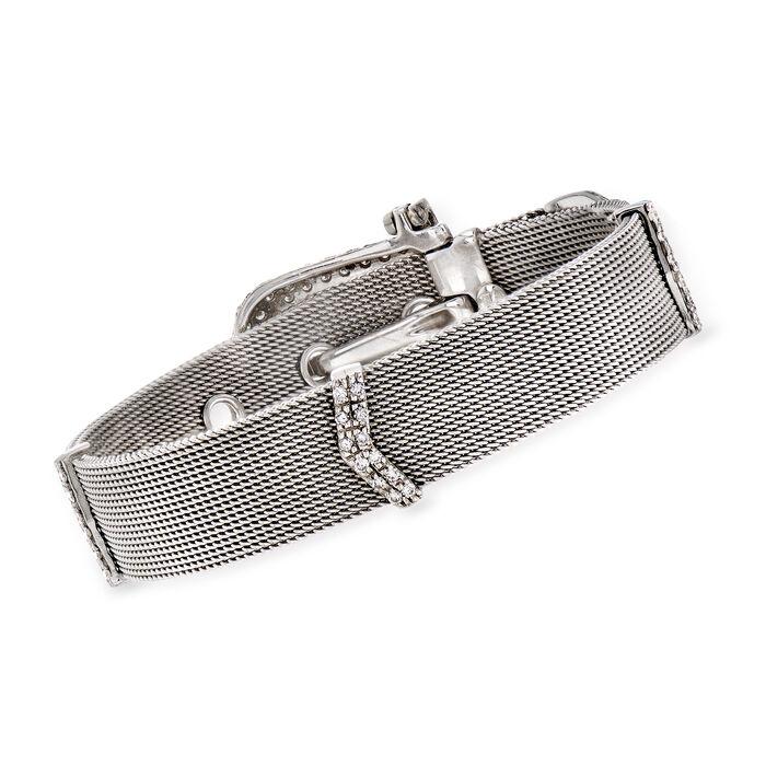 C. 1990 Vintage 2.50 ct. t.w. Diamond Buckle Bracelet in 18kt White Gold