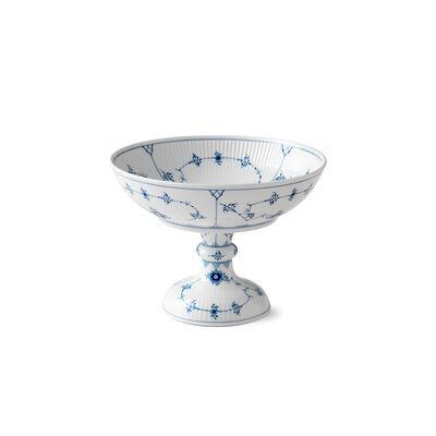 "Royal Copenhagen ""Blue Fluted Plain"" Porcelain Footed Bowl"