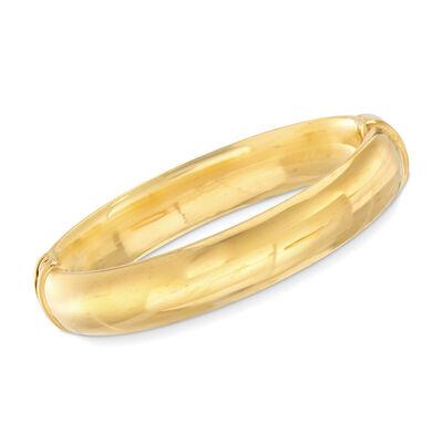 Italian Andiamo 18kt Gold Oval Hinged Bangle Bracelet, , default