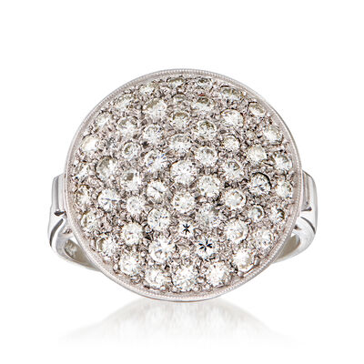 C. 1960 Vintage 1.35 ct. t.w. Diamond Cluster Ring in 14kt White Gold, , default