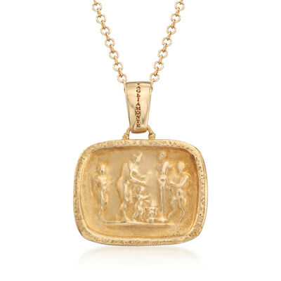 Italian Tagliamonte Tribute to Pan Pendant Necklace in 18kt Gold Over Sterling , , default
