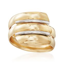 Italian 14kt Yellow Gold Triple Coil Ring. Size 5, , default