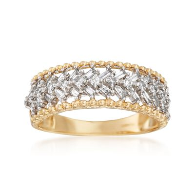 .42 ct. t.w. Diamond Chevron Ring in 14kt Yellow Gold, , default
