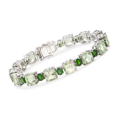 45.00 ct. t.w. Multi-Gemstone Bracelet in Sterling Silver, , default