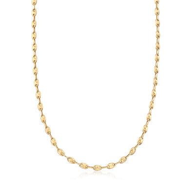 C. 1990 Vintage 14kt Yellow Gold Link Necklace, , default