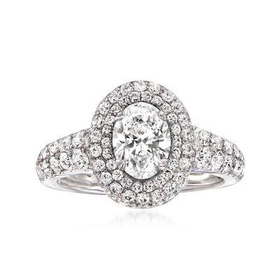 C. 2000 Vintage 2.50 ct. t.w. Certified Diamond Ring in Platinum