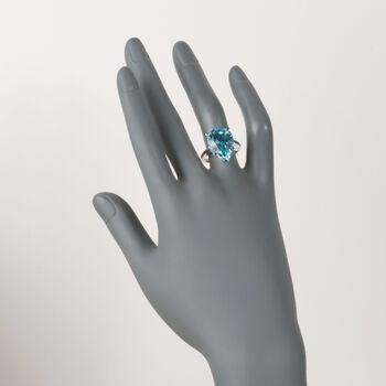 13.00 Carat Blue Topaz Ring in Sterling Silver, , default