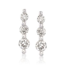 .25 ct. t.w. Graduated Diamond Drop Earrings in 14kt White Gold, , default