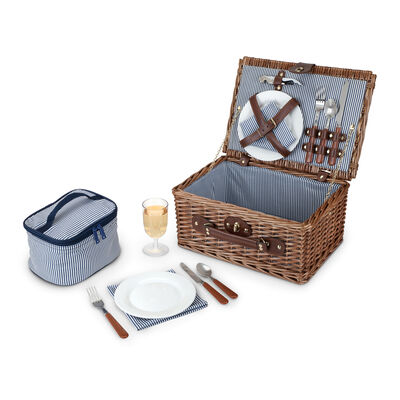 Newport Service for 2 Wicker Picnic Basket Set