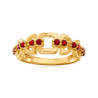 .40 ct. t.w. Garnet Ring in 18kt Gold Over Sterling