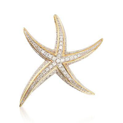 .25 ct. t.w. Diamond Starfish Pendant , , default