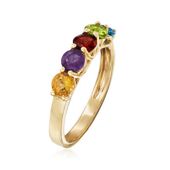 1.40 ct. t.w. Multi-Stone Ring in 14kt Yellow Gold