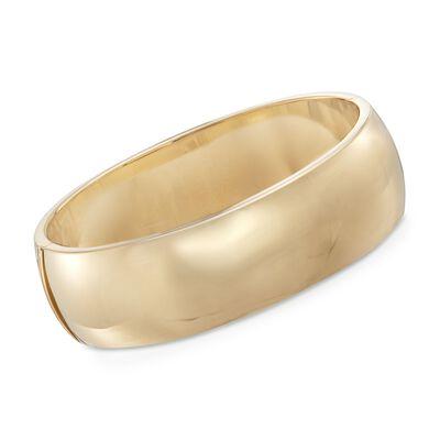 20mm 18kt Gold Over Sterling Silver Bangle Bracelet, , default