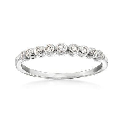 .13 ct. t.w. Bezel-Set Diamond Ring in Sterling Silver, , default