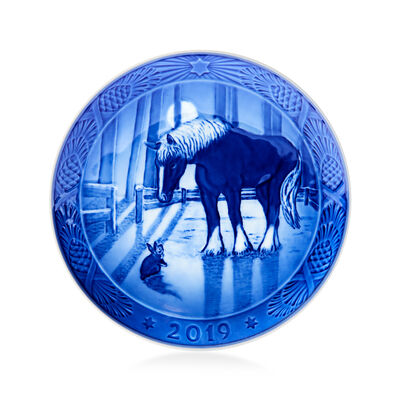 Royal Copenhagen 2019 Annual Porcelain Christmas Plate - 112th Edition, , default