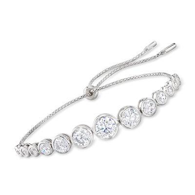 4.80 ct. t.w. CZ Bolo Bracelet in Sterling Silver