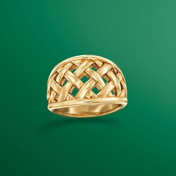 14kt Yellow Gold Open Basketweave Ring