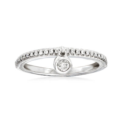 .21 ct. t.w. Diamond Dangle Ring in 14kt White Gold
