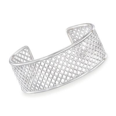 "Zina Sterling Silver ""Trellis"" Cuff Bracelet, , default"
