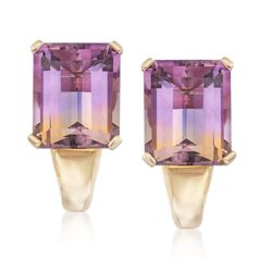 9.25 ct. t.w. Ametrine Earrings in 14kt Yellow Gold, , default