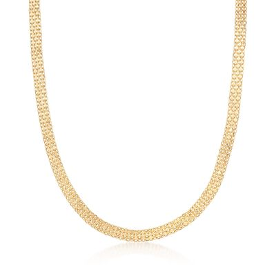 Italian 18kt Yellow Gold Bismark-Link Necklace, , default