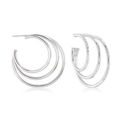Sterling Silver Multi-Hoop Earrings, , default