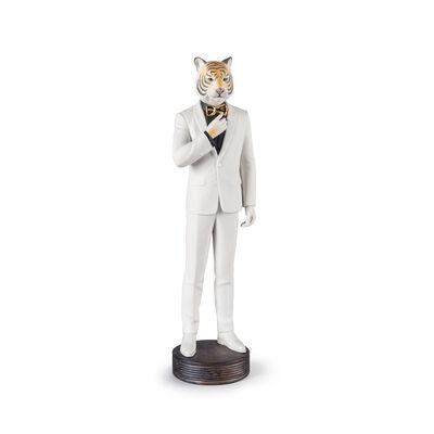 "Lladro ""Tiger Man"" Porcelain Figurine"