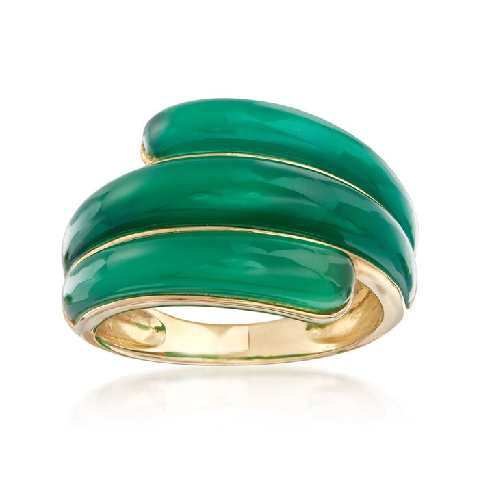 14kt Yellow Gold Green Chalcedony Ring, , default