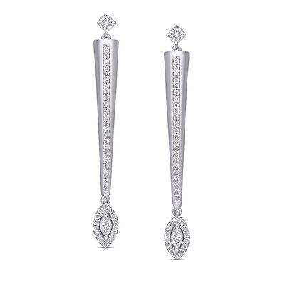 .53 ct. t.w. Diamond Drop Earrings in 14kt White Gold