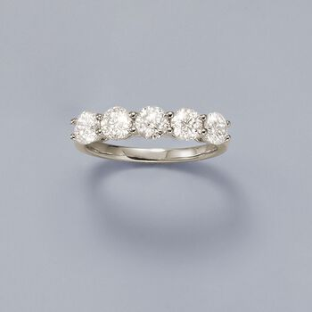 2.00 ct. t.w. Diamond Five-Stone Ring in 14kt White Gold, , default