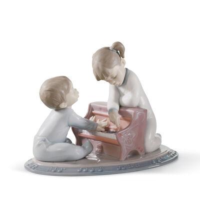 "Lladro ""First Melodies"" Porcelain Figurine, , default"