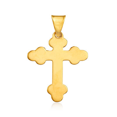 Italian 14kt Yellow Gold Cross Pendant