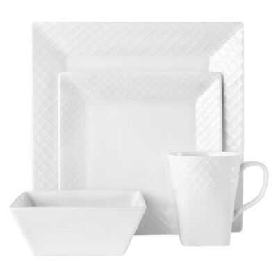 "Mikasa ""Trellis Square"" 16-pc. Service for 4 Dinnerware Set, , default"