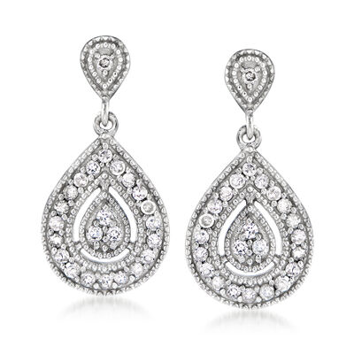 .50 ct. t.w. Diamond Teardrop Earrings in Sterling Silver